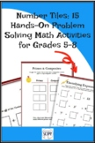 Number Tiles: 15 Problem Solving Math Activities for Grades 5-8