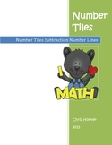 Number Tiles Subtraction with Number Line Activity Cards