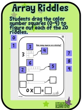 Number Tiles: Visualizing Arrays Square Tile Google Drive Puzzles
