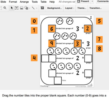 Number Tiles: Visualizing Division Square Tile Google Drive Puzzles