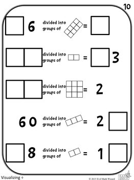 Number Tiles: Visualizing Division Square Tile Printed Cards or iPad Puzzles!