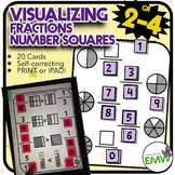 Number Tiles Visualizing Fractions Square Tile Printed Cards or iPad Puzzles!