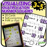 Number Tiles Visualizing Multiplication - Print or solve on an iPad