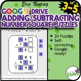 Number Tiles or Squares Adding and Subtracting Puzzles (Google Ready)