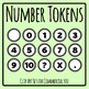 Number Tokens for Activities Clip Art Set for Commercial Use