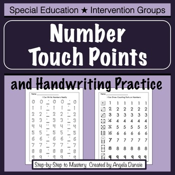 Number Touch Points & Number Formation  {Intervention, Special Ed}