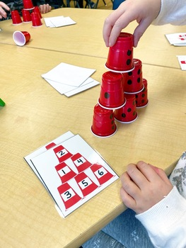 Number Tower Cup Cards