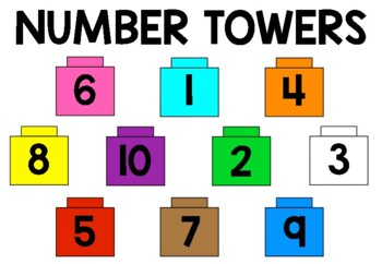 Number Towers Unifix Activity (Numbers 1-10)