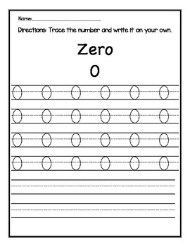 Number Trace 0-20