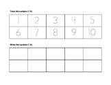 Number Trace 1-10