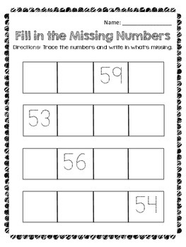 Counting to 100 Worksheets by Decade + Skip Counting by 5 & 10 - Scaffolded RTI