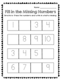 Numbers to 100 Kindergarten Worksheets + Skip Counting by 5s & 10s RTI