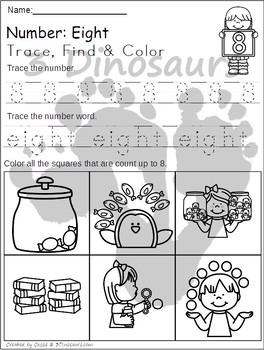Number Trace Find & Color