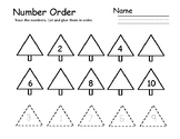 Number Trace & Order Winter Math Preschool Winter Preschool Math pre-k