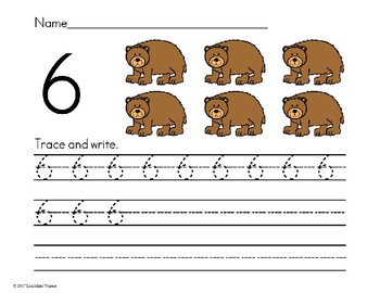 Number Trace and Write Numbers 1-20