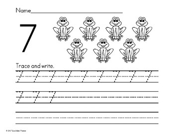 Number Trace and Write Numbers 1-20 Black and White Edition