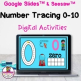 Number Tracing 0-10 Digital Activities Google Slides & See