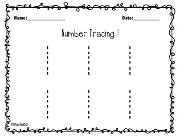 Number Tracing 0-15