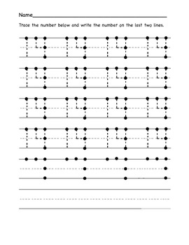 Number Tracing 0-20
