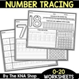 UPDATED - Number Tracing 0 - 20 Worksheets