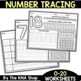 Number Tracing  1-20 Worksheets