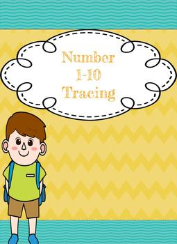 Fall  Pumking  Number Tracing 1-10 (number of the day)