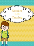 Number Tracing 1-10 (number of the day)