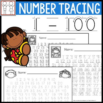 Number Tracing 1 - 100