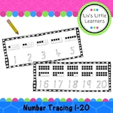Number Formation Tracing Cards 1-20