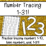 Number Tracing 1-31