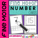 Fine Motor Number Tracing Cards