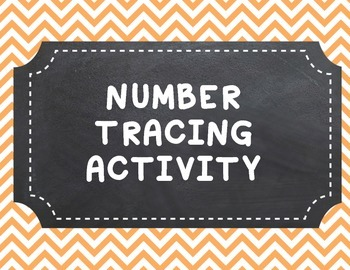 Number Tracing Activity