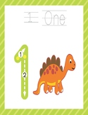 Number Tracing Book for Kindergartners-Dinosaurs