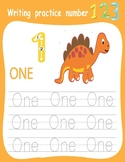 Number Tracing Book for Kindergartners_Letters_dinosaurs