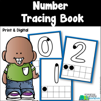 Number Tracing Books and Number Chart {Pre-Readers}
