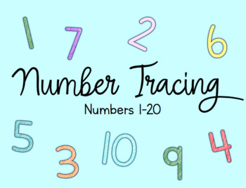 Number Tracing Cards 1-20