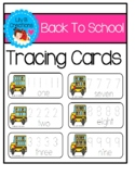 Number Tracing Cards - Back To School