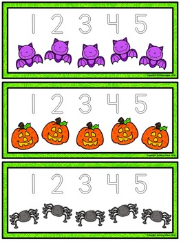 Number Tracing Cards: Halloween (Numbers 1-20)