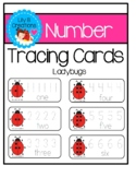 Number Tracing Cards - Ladybugs