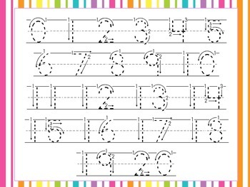 Number Tracing Cards and Play Dough Mats