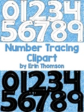 Number Tracing Clipart