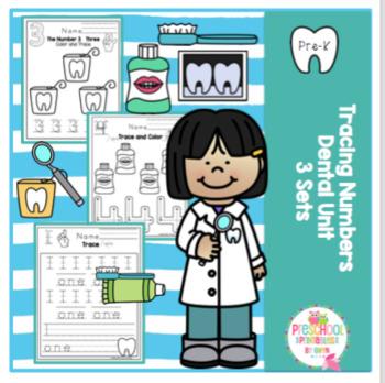 Number Tracing Dental Unit 3 Sets