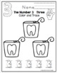 Number Tracing Dental Unit 3 Sets