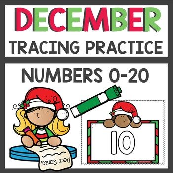Dollar Deals Number Tracing Christmas