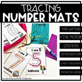 Number Activities Tracing Number Mat | Trace Cards | Fine Motor