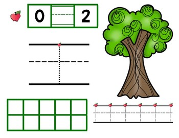 Number Tracing Mat: Apple tree