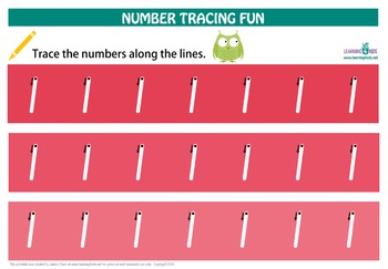 Number Tracing Mats