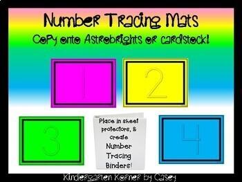 Number Tracing Mats Pre-K Kindergarten Math Centers Morning Work Handwriting