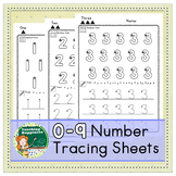 Number Tracing Sheets | Rainbow Writing | Directional Star