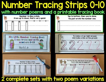 Number Tracing Strips 0-10